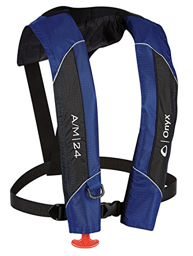 ABSOLUTE OUTDOOR Onyx A/M-24 Automatic/Manual Inflatable Life Jacket by Absolute Outdoor
