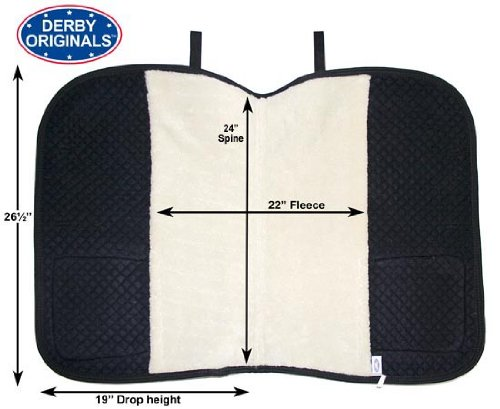 Derby Originals All Purpose Half Fleece-Lined English Saddle Pad with Velcro Close Pockets, Hunter Green