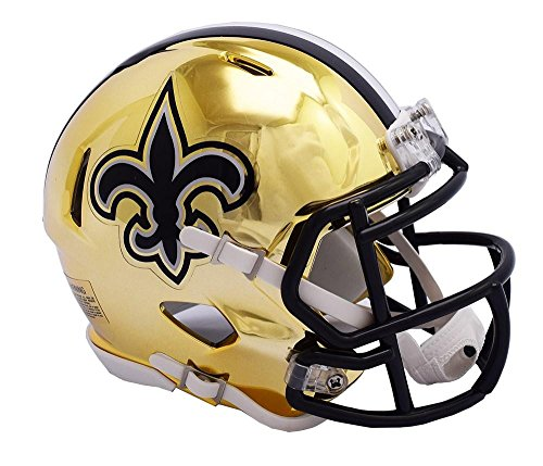 New Orleans Saints Replica Helmet - Riddell NEW ORLEANS SAINTS NFL Revolution SPEED Mini Football Helmet