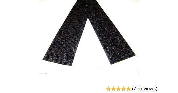 Velcro 2 Inch Wide Black Hook and Loop Sew On Type 5/' Foot Lengths Uncut