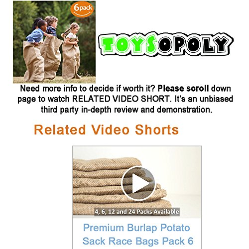 ToysOpoly Premium Burlap Potato Sack Race Bags 24'' x 40'' (Pack of 6) - of Sturdy Rugged, 100% Natural Eco-Friendly Jute | Perfect Birthday Party Game for Kids & Adults by ToysOpoly (Image #6)