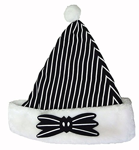 Disney Nightmare Before Christmas Jack Skellington Santa Hat