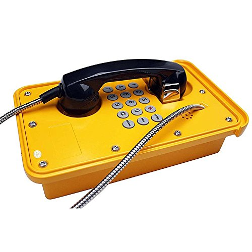 KNTECH KNSP-09 IP Version Heavy Duty Waterproof Telephone with Full Keypad,Yellow