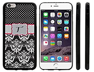 Rikki KnightTM Olive Green Music Notes Sheet Design iPhone 6 Plus Case Cover (Clear Rubber with raised front bumper protection) for Apple iPhone 6 Plus