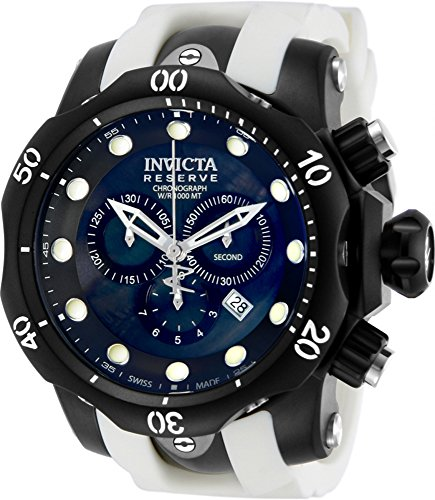 Men's  Venom Reserve Chronograph Black Mother-Of-Pearl Dial Watch - Invicta 11156