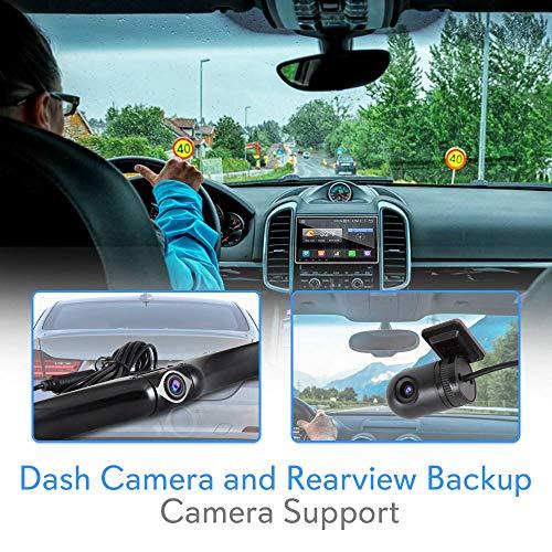 Android Din DVR Car Dash Cam System Camera, WiFi, Player, Slot AM FM - Pyle