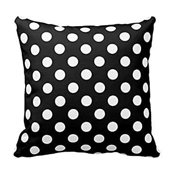 Amazon Black And White Polka Dot Throw Pillows Decorative Beauteous Decorative Pillows With Circles