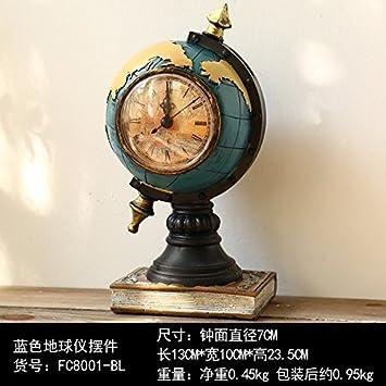 HUANGYAHUI Despertador La Resina En El Péndulo Retro Relojes De Sobremesa Reloj De Sobremesa Reloj Inicio Decoración Muebles ,Fc8001-Bl: Amazon.es: Hogar