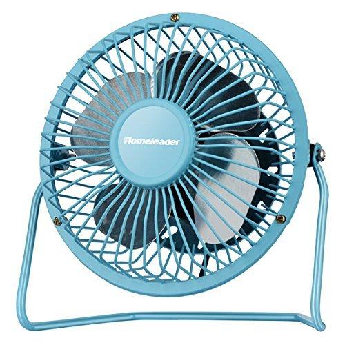 Homeleader Personal Mini Fan  4 Inch Blades  Blue