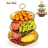 $16.99Fruit Plate, Imillet 3 Tier Stainless Steel Plate for Fruits Cakes Desserts Candy Buffet Stand for Wedding &Home&Party (Golden)
