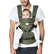 Ergobaby Omni 360 Cool Air Mesh Ergonomic Baby Carrier All Carry Positions, Newborn to Toddler, Khaki Green