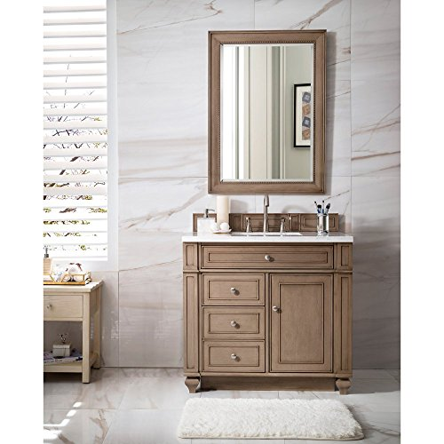"""James Martin Bristol 36"""" Single Bathroom Vanity in Whitewashed Walnut (Top Not Included) from James Martin Furniture"""