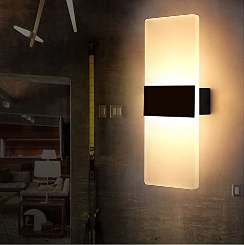 Lightess Apliques de Pared LED L/ámpara Moda Agradable Luz de Ambiente para Decoraci/ón de Casa Jard/ín Exterior y Interior