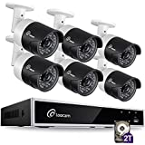Loocam 1080p HD Surveillance Security Camera System 8CH DVR with 2TB Hard Drive 6 x 2.0MP 1920TVL IP67 Weatherproof Outdoor Indoor Automatic 150ft Predator Night Vision and Motion Detection
