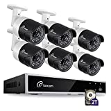 Loocam 1080p HD Surveillance Security Camera System 8CH DVR with 2TB Hard Drive 6 x 2.0MP 1920TVL IP67 Weatherproof Indoor/Outdoor Automatic 150ft Predator Night Vision and Motion Detection