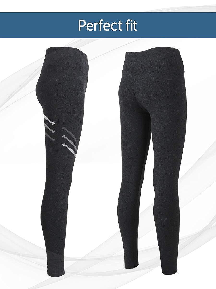 think ECO Organic Women/'s Long Soft Warm Thermal Underwear Bottom//Leggings Black.