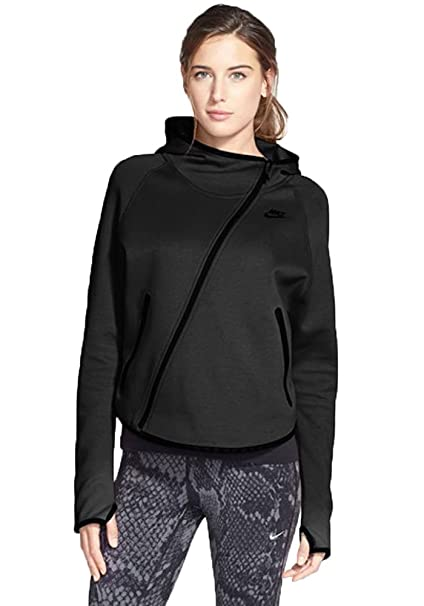 ff3304605a39 Amazon.com  Nike Womens Tech Fleece Butterfly Hoodie Jacket Black-x-small   Sports   Outdoors