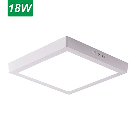 Salafey 18w Flush Mount Led Ceiling Light Square Surface Mounted Led Panel Lamp Fixtures For Bathroom Kitchen Closet Garage Hallway Cool White 9