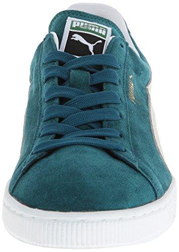 Puma Suede Classic Plus, Zapatillas de Cuero Mujer Turquesa (Deep Teal)