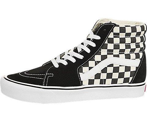 - Vans - Unisex-Adult Sk8-Hi Lite Shoes, Size: 8 D(M) US Mens / 9.5 B(M) US Womens, Color: (Checkerboard) Black/White