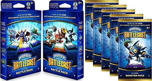 Skylanders Battlecast Both Battle Packs & 5 Booster Packs (Activision)