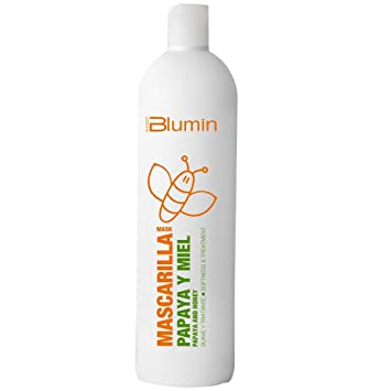 Blumin Mascarilla de Pelo/Mascarilla para el Cabello de Papaya y Miel Rica en Vitamina A y C y Complejo B, 1000 ml: Amazon.es: Belleza