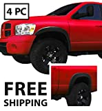 Premium Fender Flares for 2002-2008 Dodge Ram 1500; 2003-2009 Ram 2500 3500 (ONLY Fit Fleetside models with 6.5' Bed) | Fine-Textured Matte Black Paintable OE Style 4pc