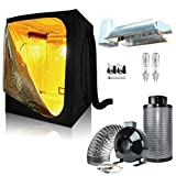 BloomGrow CMH 630W Grow Light Kit+60''x60''x80'' Grow Tent+6'' Inline Fan Carbon Air Filter Ducting Combo for Hydroponic Indoor Plant Growing System (630W Enclosed Kit+60''x60''x80''Tent+6''Fan Combo)