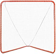Goplus Lacrosse Goal, 6' x 6' Practice Lacrosse Goal and Net for Indoor & Outdoor Backyard Shootin