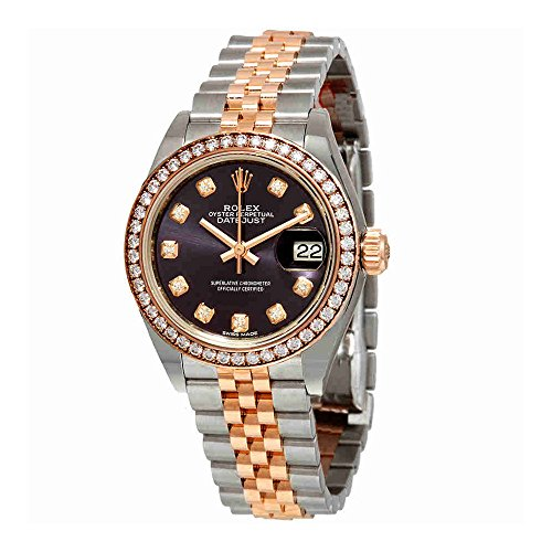 Rolex Lady Datejust Purple Diamond Dial Ladies Steel and 18kt Everose Gold Jubile Watch 279381PUDJ