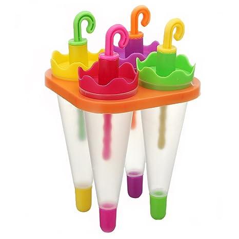 naisicatar moldes de hielo con tapas helado Pop molde Popsicle Molde Popsicle Maker molde herramienta Diy