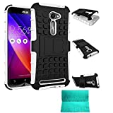 ZenFone 2E Case,Moment Dextrad *NEW*[Non-Slip][Perfect Fit][Stand Feature]Dual Layer Armor Defender Case ONLY for ASUS Zenfone 2 ZE500CL 5.0-inch (White)