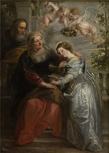 Oil Painting 'Peter Paul Rubens,The Education Of Maria,1577-1640', 12 x 17 inch / 30 x 43 cm , on High Definition HD canvas prints is for Gifts And Bar, Kids (Halloween Express Coupon Printable)