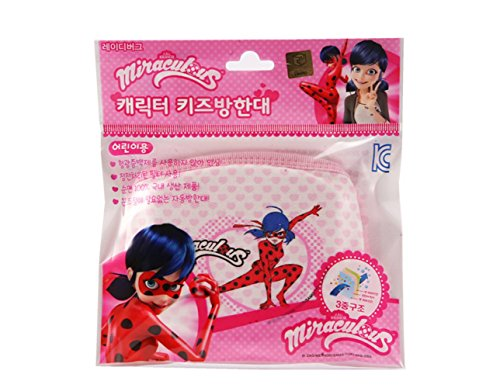 (Miraculous Ladybug Mouth Face Mask Anti Dust Kids Child Gift Present Respiration + 1 Free Gift Giraffe)