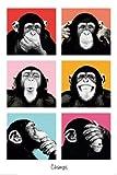 (24x36) The Chimp Pop Art Print Poster