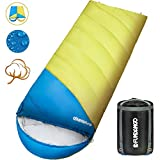 FUNDANGO Oversized Sleeping Bag -4 Season Warm Weather Winter, Lightweight, Waterproof-Great Adults & Kids - Excellent Camping Gear Equipment, Traveling Outdoor Activities.(Single)