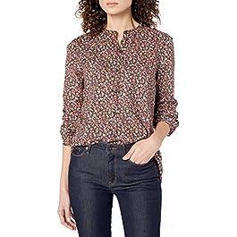 Amazon Brand – Goodthreads Women's Relaxed Fit Lightweight Cotton Button Down Long Sleeve Shirt