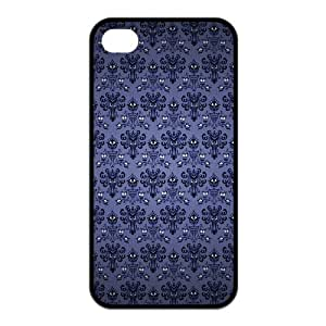 The Haunted Mansion Protective TPU Case (Black, White) For Apple ipod touch 4