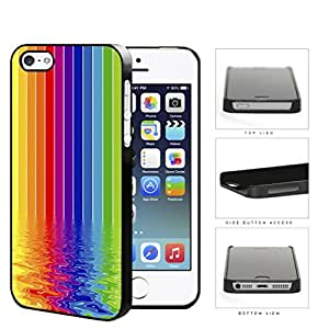 Rainbow Colored Art Painting Of Rippled River Hard Plastic Snap On Cell Phone Case Apple iPhone 5 5s