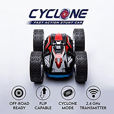 """CYBER MONDAY! Cyclone Kids Remote Control Car - """"Cyclone Mode"""" 360 Flip RC Cars Off Road Series Stunt Car by Force1"""