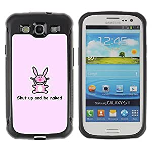 Hybrid Anti-Shock Defend Case for Samsung Galaxy S3 / Rabbit Message