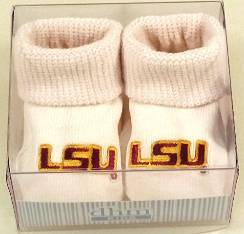 Louisiania State LSU Tigers Boxed Baby Booties