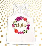 Girl's 8th Birthday Outfit Eight Shirt Eight Tank 8 year old shirt 8th Birthday Party Outfit 8th Birthday Shirt 8th Bday Black and Gold