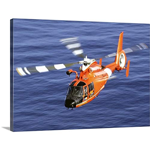 GREATBIGCANVAS Gallery-Wrapped Canvas Entitled A Coast Guard HH 65A Dolphin Rescue Helicopter in Flight by Stocktrek Images 16