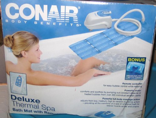 Conair Body Benefits Deluxe Therma Spa Bath Mat by Deluxe Therma Spa Bath Mat