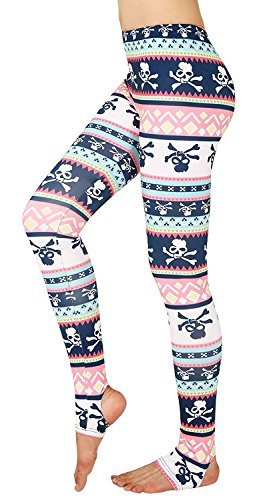 2017 Halloween Costume Skull Leggings Spirit Party Tights Pants for Women M (Spirits Halloween 2017)