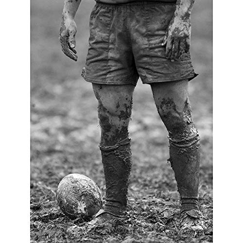 (Wee Blue Coo Dt Ball Rugby Mud Bowl Unframed Wall Art Print Poster Home Decor Premium)