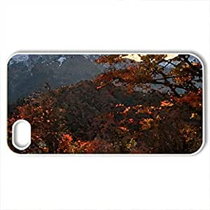 gorgeous mountain in autumn - Case Cover for iPhone 4 and 4s (Mountains Series, Watercolor style, White) by lolosakes