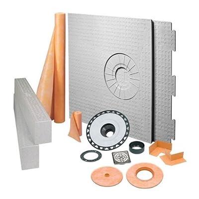 """Schluter Kerdi Shower Kit 32"""" X 60"""" Off Center Stainless Steel ABS (KKB 81152 ABSE)"""