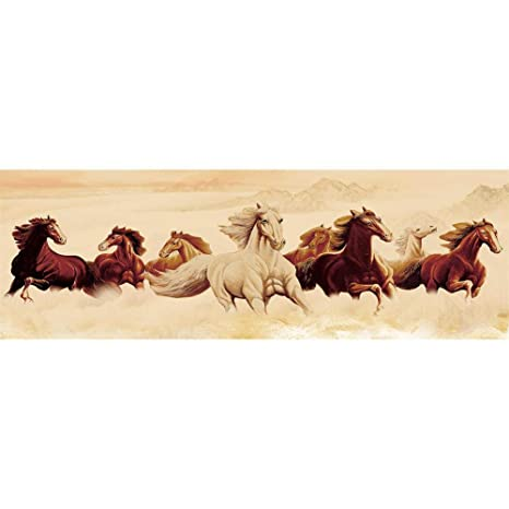 Horses Full Drill 5D DIY Large Size Diamond Painting Kit Wall Decor 80*30cm NEW